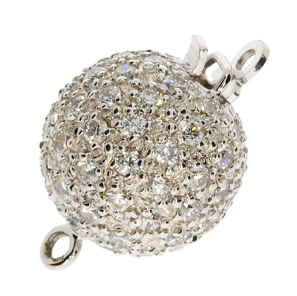 The ball clasp with 1.36 carat 585/- white gold