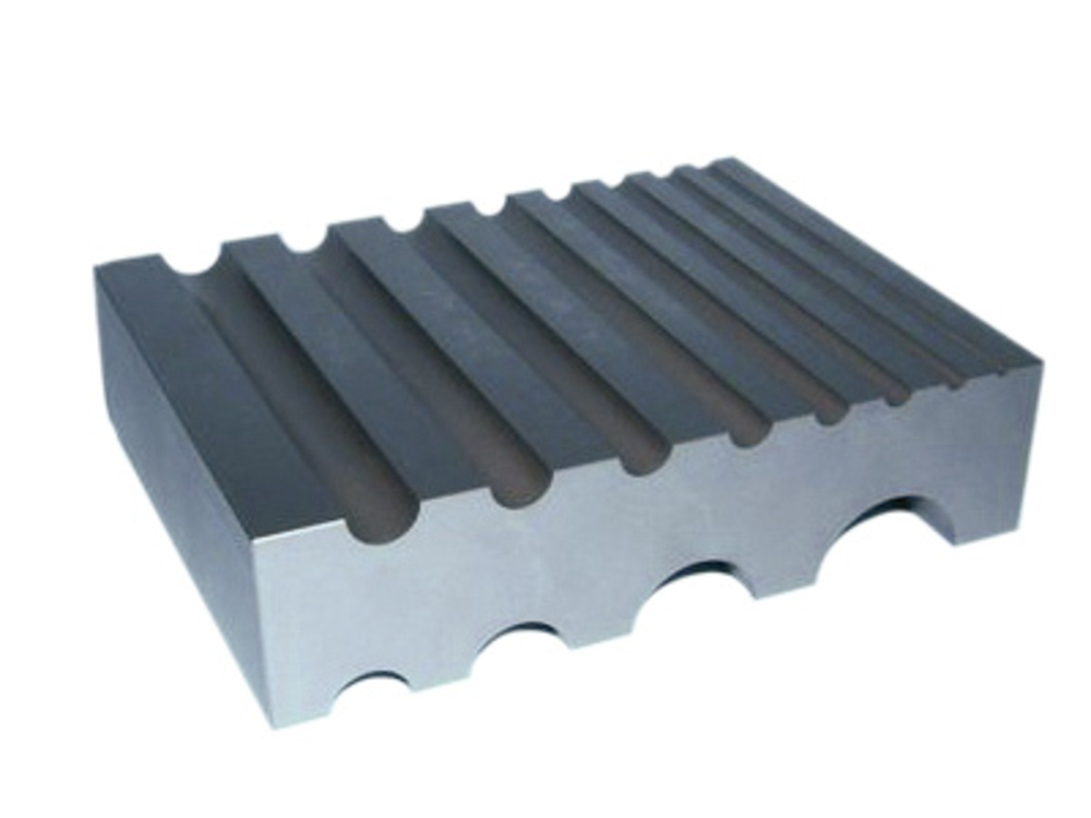 Steel bench block 12 half round slots