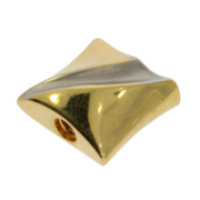 Polished square-shaped system clasp 585/- two tones