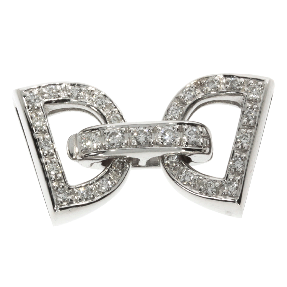 Clasp for 1-3 chain rows 585/- white gold