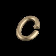 Oval øsken 925/- forgyldt