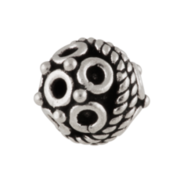 Bead with circles 925/-, oxidised