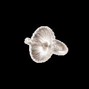 Spetsögla med räfflat pärlskål 925/-, 5 mm