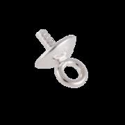 Hængeøsken med skål 925/-, 5 mm