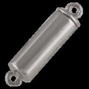 Polished cylinder-shaped magnet clasp 925/-