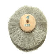 German silver wire brush