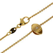 Necklace trace with pendant 585/- yellow gold