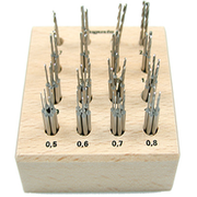 Twist-drill set in wooden box (64 pcs.)