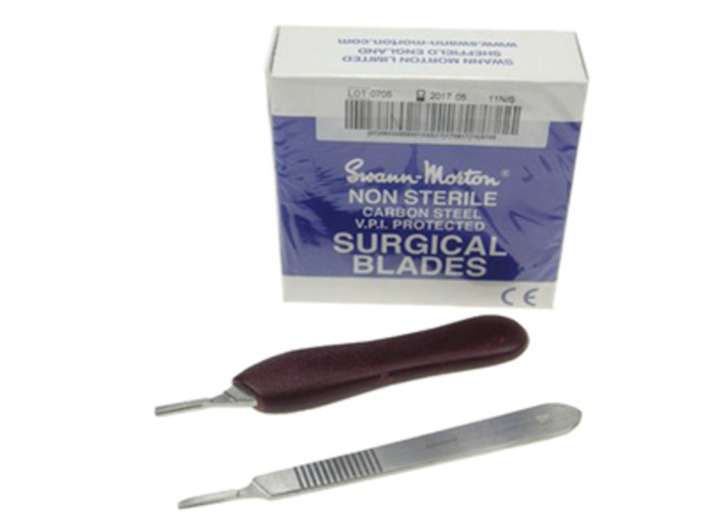 Scalpel blade handle, plastic