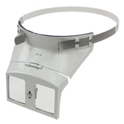 Headband magnifier in metal