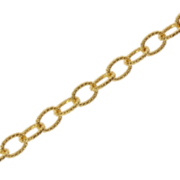 Trace open twisted 750/- yellow gold