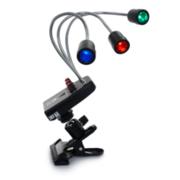 LED-spotlys med farvefilter